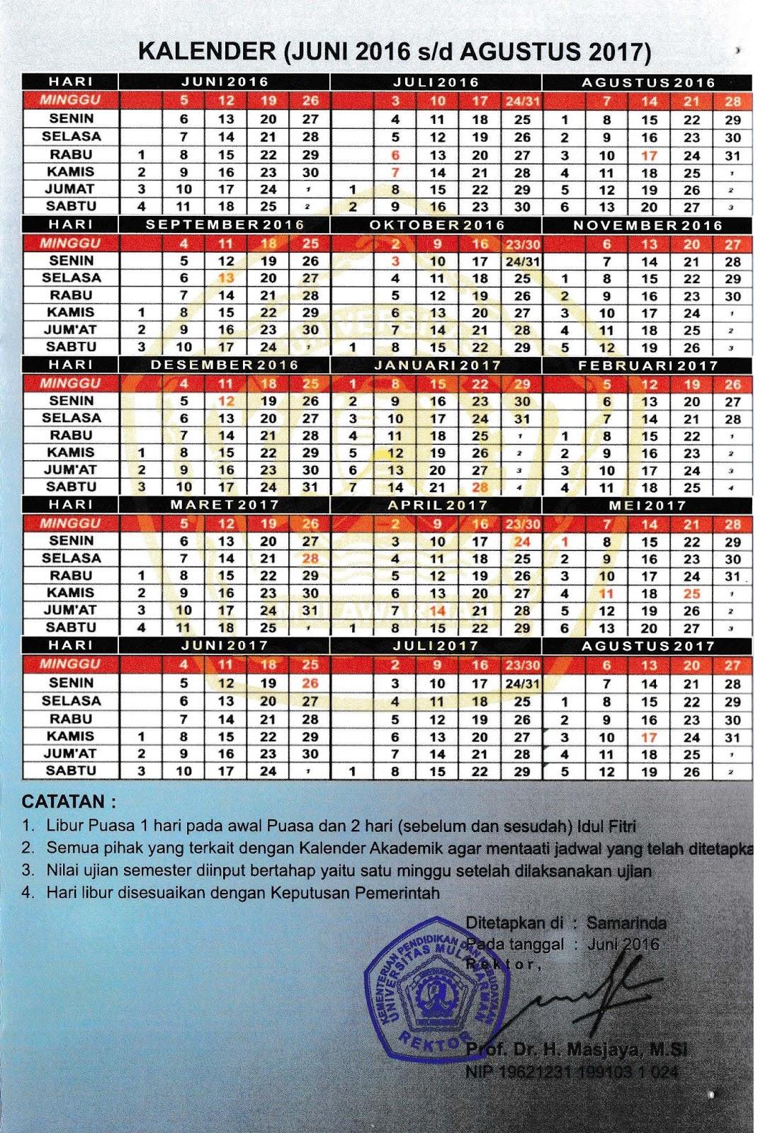 Kalender akademik2016-2